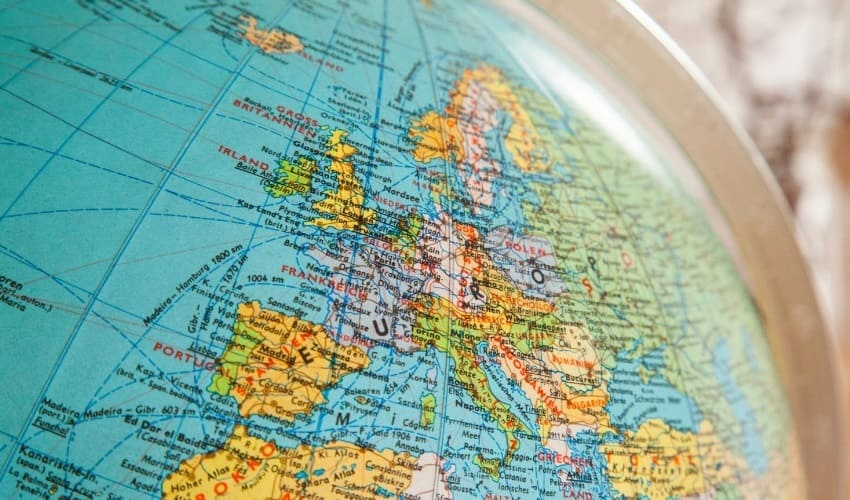 европа, положение европы, местоположение европы, европа и азия