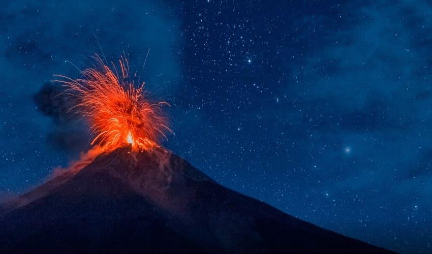 извержение вулкана, извержение вулканов