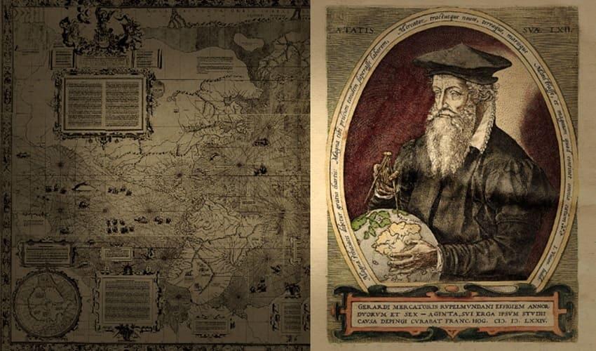 меркатор и его географические карты, меркатор, карты меркатора, меркаторова проекция
