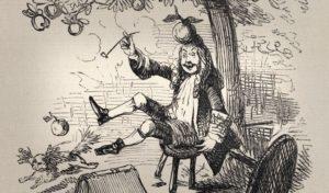 легенда о яблоке и ньютоне, история о яблоке и ньютоне, история об открытии закона всемирного тяготения