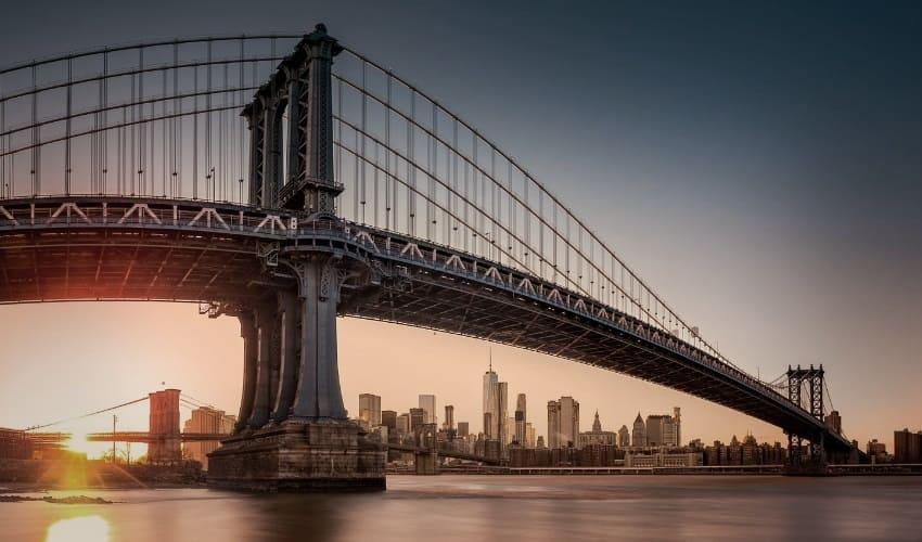 кто построил бруклинский мост, бруклинский мост, когда был построен бруклинский мост