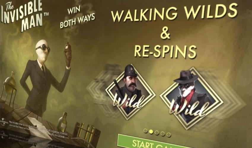 Игровой автомат «The Invisible Man» («Человек Невидимка») в мобильной версии «Азино»