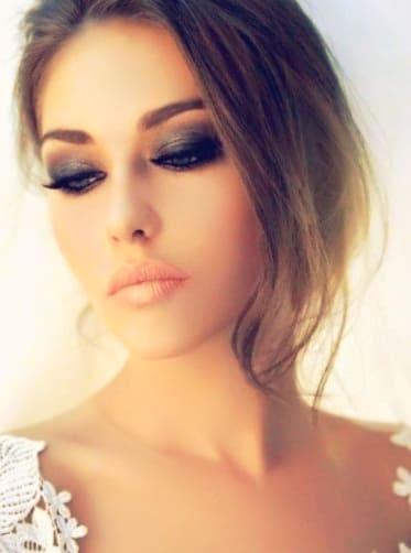 Макияж для невест с серыми глазами